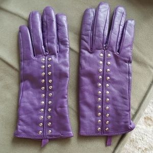 Michael Kors Cashmere lined Leather Gloves